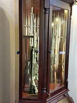 Laminated Glass Corner Gun Cabinet Front And Sides