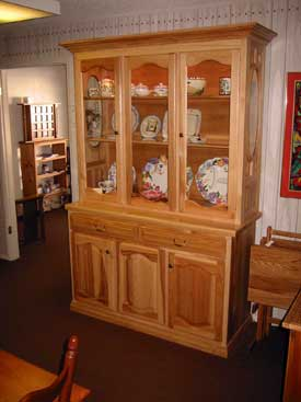 Natural Solid Hickory Hutch