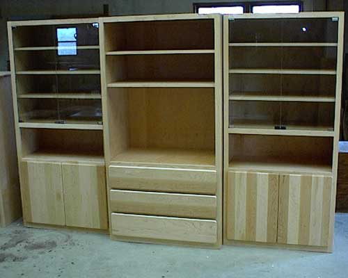 Custom Amish Made Natural Hickory Entertainment Center