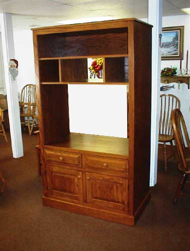 Custom Amish Made Standard Cherry Entertainment Center