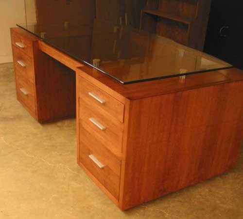 office desk with glass top. Locally Amish Custom MAde Glass Top Desk Office With