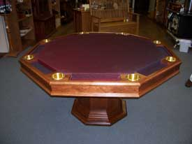 Locally Amish Custom Made Poker Table with Solid Cherry Dining Top taken off