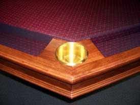 Locally Amish Custom Made Poker Table weith Solid Brass Cup Holders