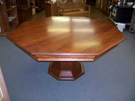 Locally Amish Custom Made Poker Table with Solid Cherry Dining Top
