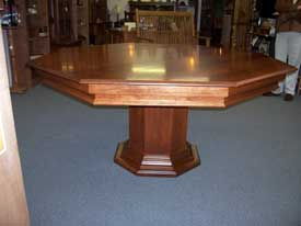 Locally Amish Custom Made Poker Table with Platform Pedestal and Solid Cherry Dining Table Top