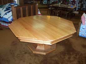Cherry Poker Table with Solid Top