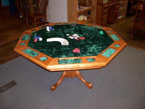 Superieur Locally Amish Custom Made Poker Table Made In Cherry