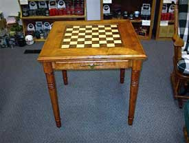Birch Check and Chess Table