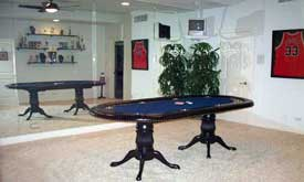 Poker Table with Double Fluted Pedestal