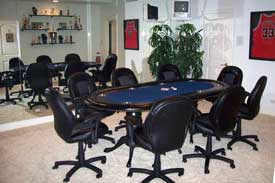Black Painted Maple Texas Hold Em Poker Table with Chairs