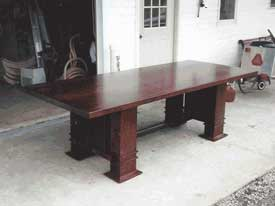 Cherry Wood Stickley Inspired Mission Table