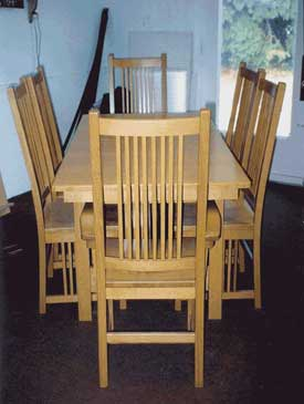 Solid Maple Craftsman Mission Table and Chairs