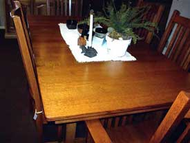 Amish Made Quarter Sawn Oak Table