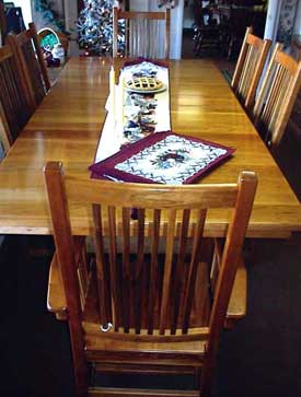 Amish Made Cherry Wood Stickley Style Table