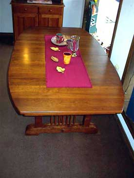 Amish Made Medium Cherry Prestige Missiion Table
