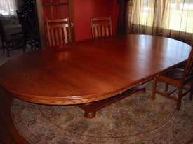 Solid Cherry Oval Platform Table