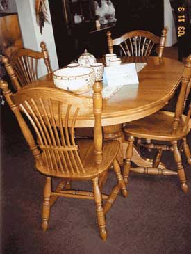 Woodloft com locally illinois amish crafted oval tables