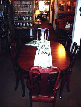 Amish Made Dark Cherry Queen Anne Table and Chairs