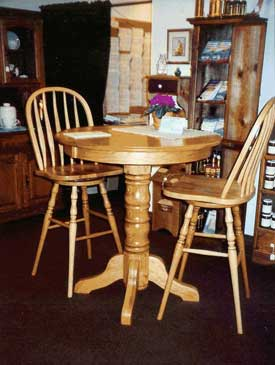 Amish Made Oak Pub Table