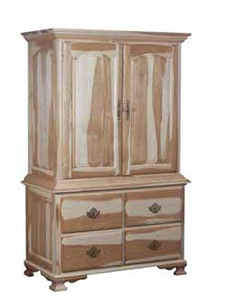 Amish Crafted Classic Heritage Bedroom Armoire In Rustic Hickory With  Natural Finish. This Armoire Features Standard Raised Panel Double Doors  And Raised ...